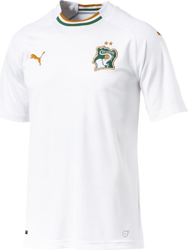 275b2fe52e Puma apresenta a camisa reserva da Costa do Marfim - Show de Camisas