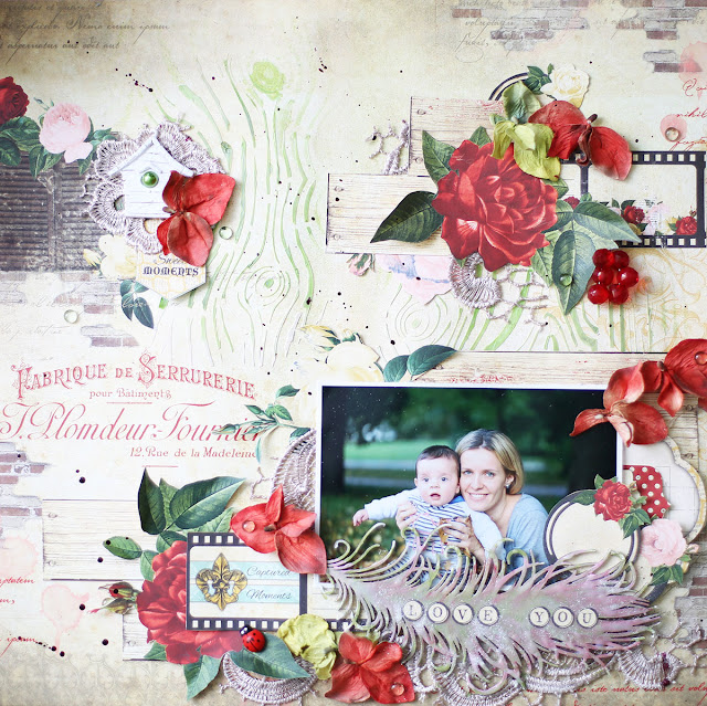 Love you layout by Evgenia Petzer using Juliet collection by Bo Bunny