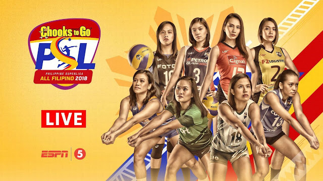 PSL 2018 All-Filipino Live Stream Info, Schedule, Standings and Results