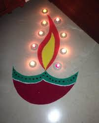 Rangoli Designs For Diwali For Kids