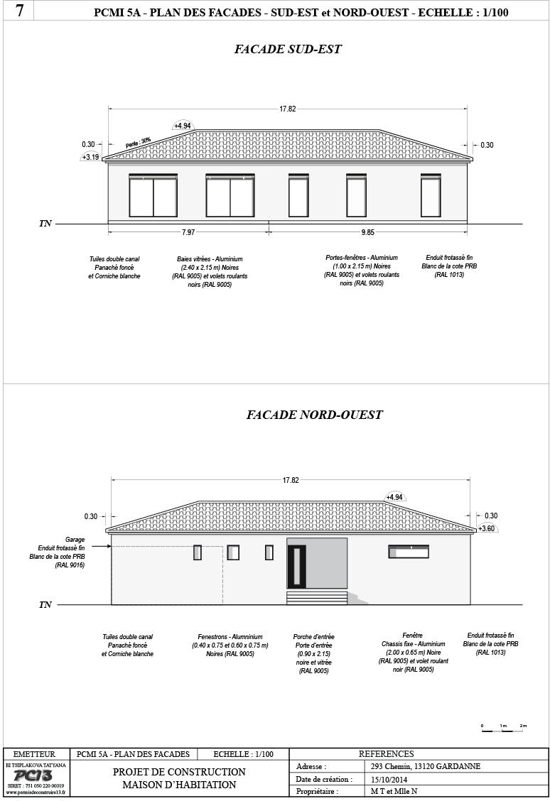 Permis de construire 13 composition d 39 un dossier de - Plan de masse maison individuelle ...