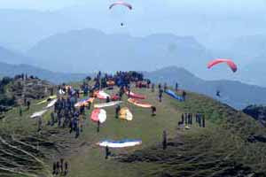 Paragliding place at Bir