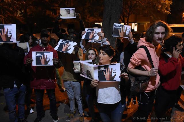 Acción de protesta contra el racismo en Armenia