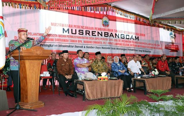 Wow, Pemkab Lamsel Gelontorkan Rp106 Miliar Untuk Kecamatan Kalianda