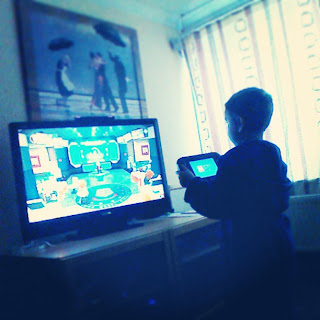 Big Boy playing Lego City Undercover on the Wii U