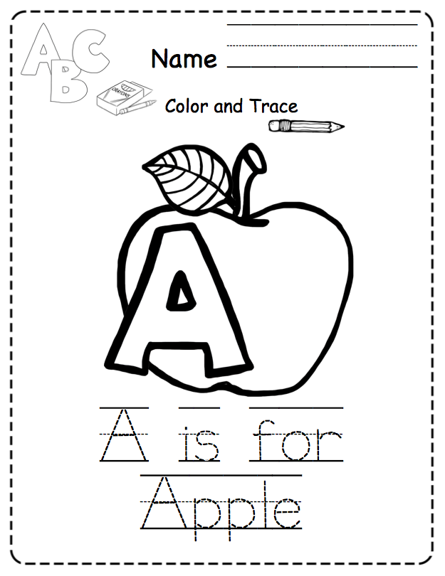 Alphabet Tracing & Coloring Pages (NO PREP) ~ Preschool