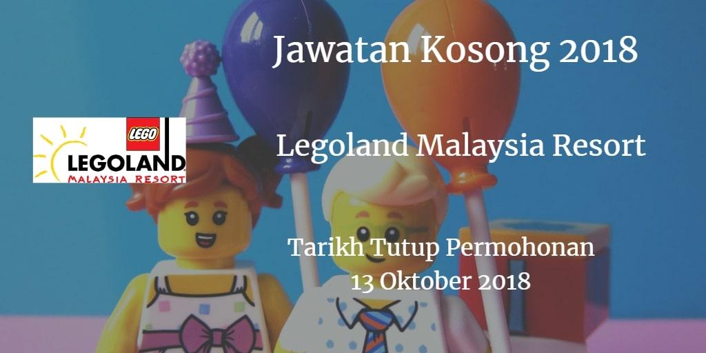 Jawatan Kosong Legoland Malaysia Resor 13 Oktober 2018