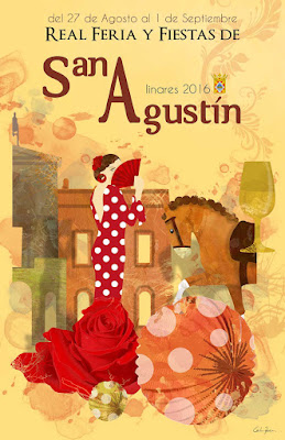 Feria de San Agustín 2016 -Linares - La Rosa de las fiestas - Carlos Peña Castro