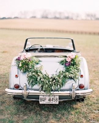 bohemian wedding car