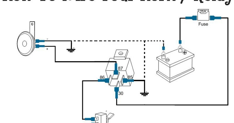3 Horn Relay Wiring Diagram Wiring Diagrams All