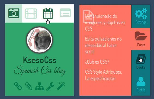 2 Demos: navegación por pestañas (tabs) puro Css con :checked