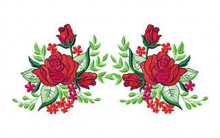 Baixa matriz rosa vermelha