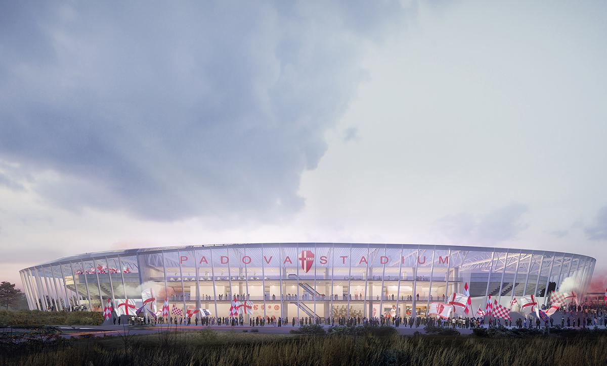 progetto nuovo stadio padova