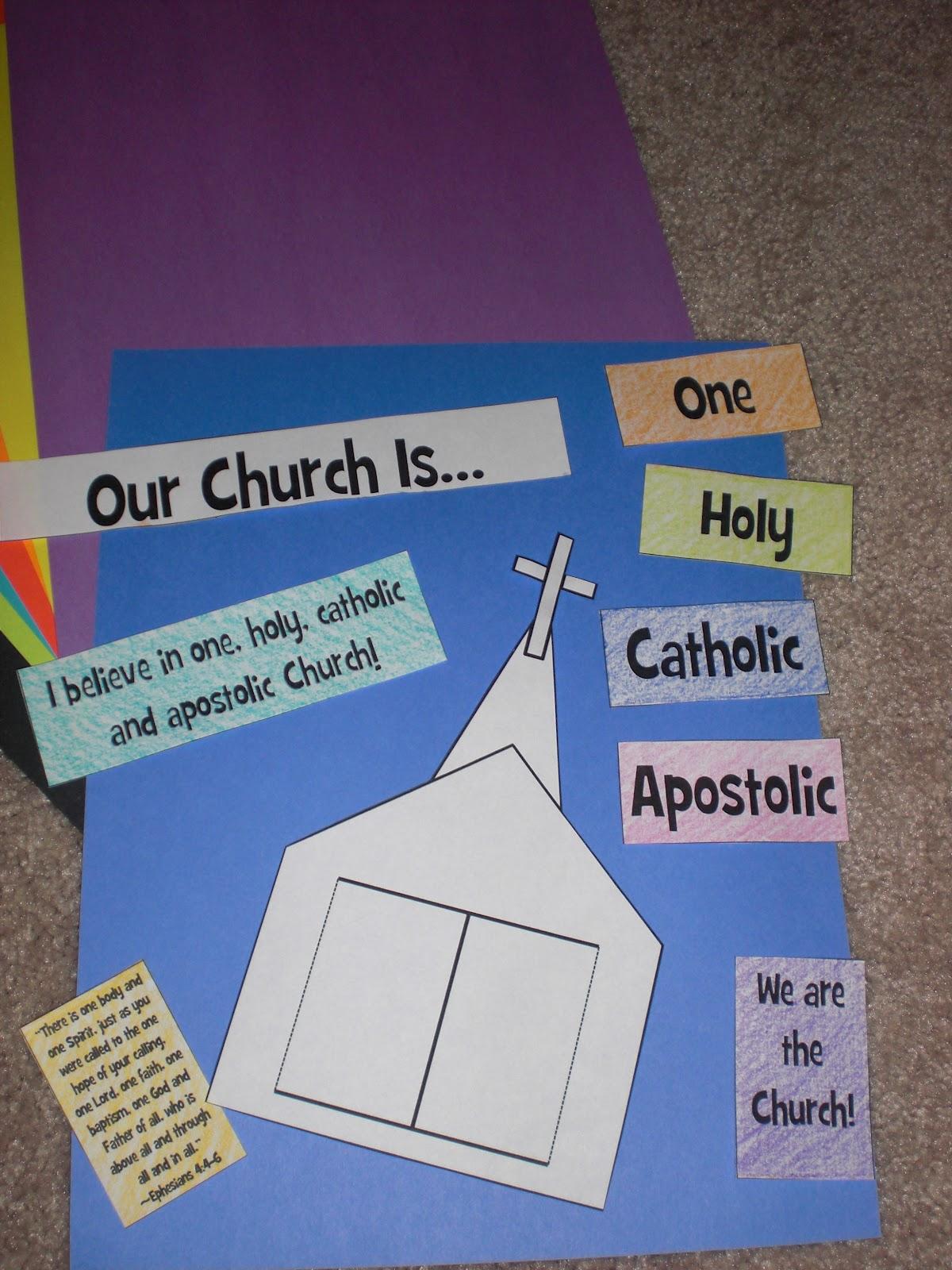 Apostles Creed Craft Ideas