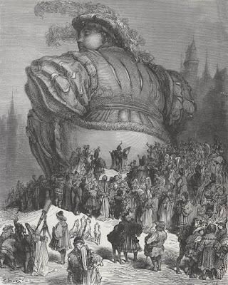 Εικονογράφηση του Gustave Doré για τον Γαργαντούα του Φρανσουά Ραμπελαί / Gargantua illustration, by Gustave Doré