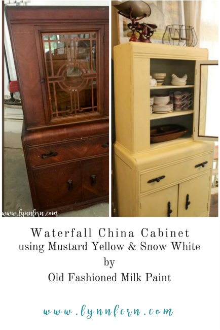 Waterfall China Hutch Makeover - Lynn Fern
