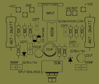PCB & Layout Input Balance Simple dan minimalis