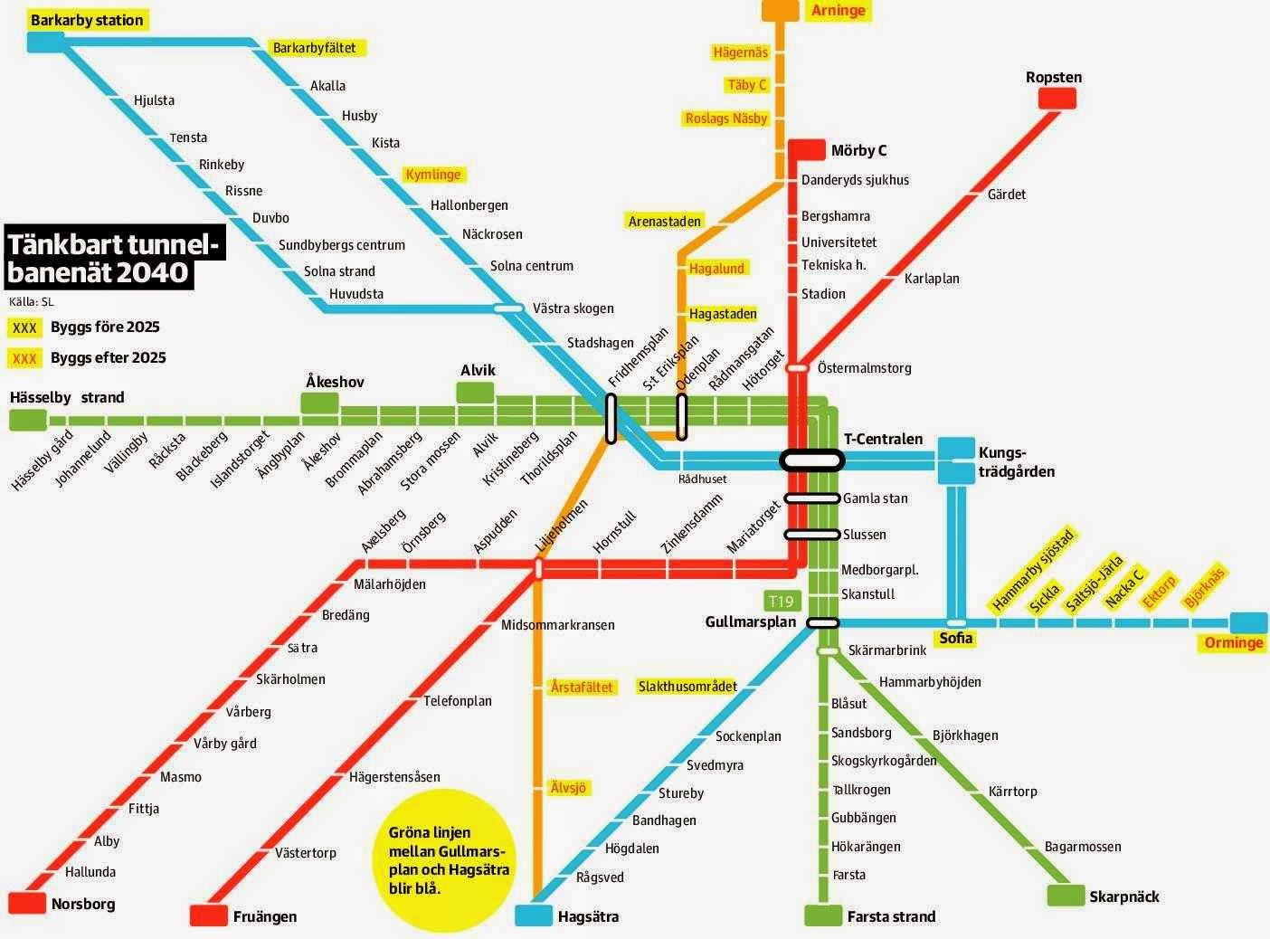 karta odenplan stockholm Fredman på Kvarnberget: Framtida tunnelbanelinjer efter 2025 karta odenplan stockholm