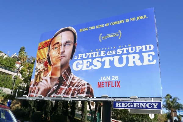 A Futile and Stupid Gesture film billboard