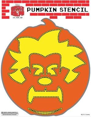 Free printable wreck it ralph pumpkin stencil thrifty jinxy save pronofoot35fo Images