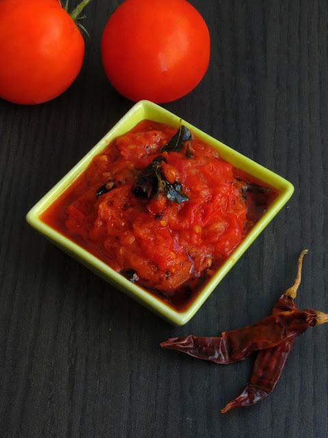 Andhra Tomato Pickle, Tomato Pickle