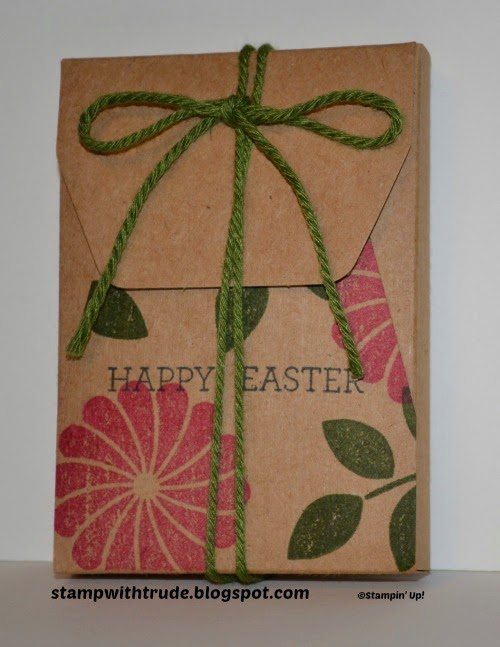 stampwithtrude.blogspot.com , Trude Thoman, Paper Pumpkin, Stampin' Up!, treat box, Easter, Crazy About You stamp set