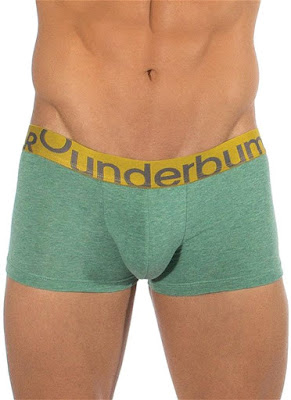 Rounderbum Lift Trunk Underwear Heather Green Front Detail Gayrado Online Shop