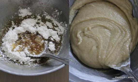 preparing athirasa diwali sweet recipe