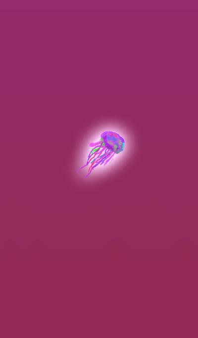 水彩ピンククラゲ