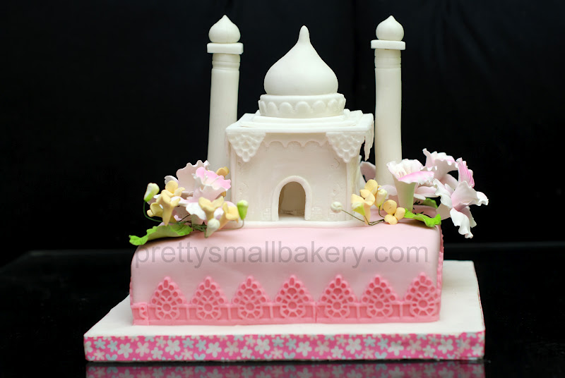 Kek Hantaran Bentuk Masjid Prettysmallbakery
