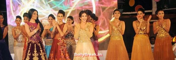 Koena Mitra, Sunny Leone, Sunny Leone, Koena Mitra Hot Pics from  Rohit Verma's Bridal Show