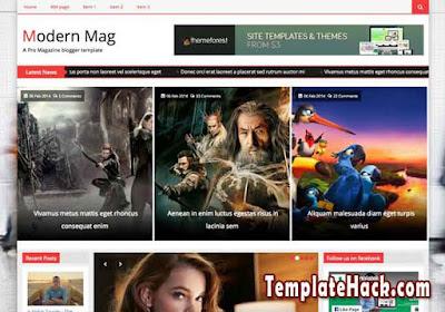 modern mag blogger template