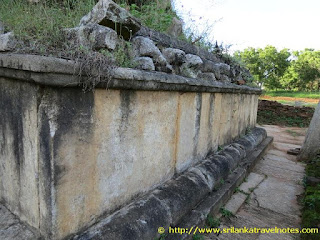 Remainings of the Eth Panthiya ( Row of elephant statues) at Deegawapi Stupaya