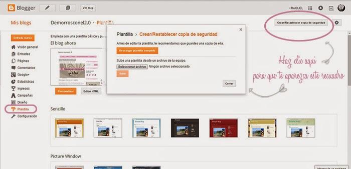 crear una copia de seguridad en blogger