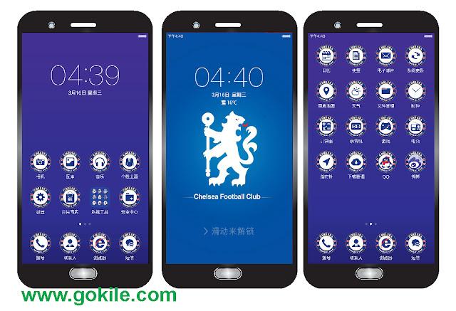 Tema Club Bola Chelsea Mtz Terbaru For Xiaomi Paling Keren