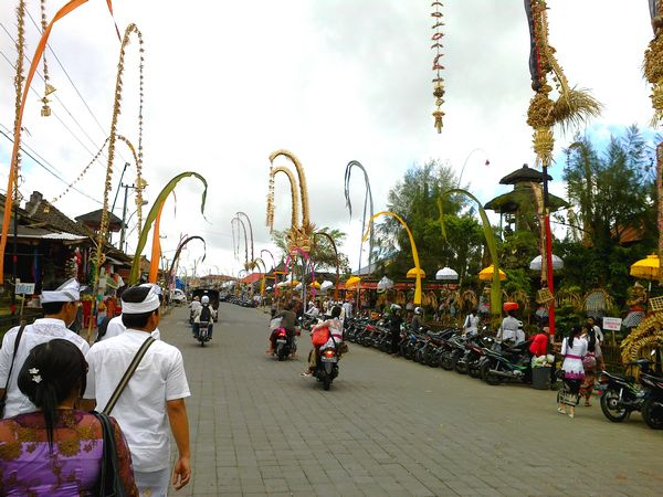 Come to Bali during the celebration of Galungan, then you will feel the atmosphere of the real Bali