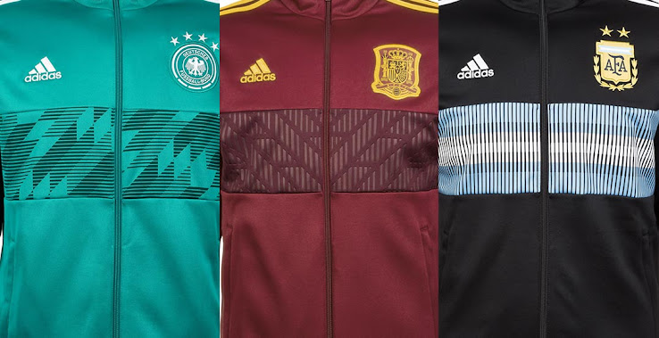 faed2a880dc Adidas Argentina, Germany, Russia, Spain & Sweden 2018 World ...