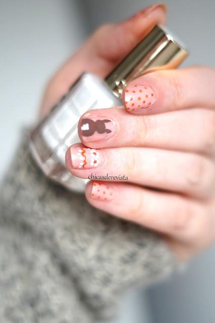 nail art pâques chocolat