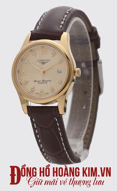 Đồng hồ nữ dây da giá rẻ Longines
