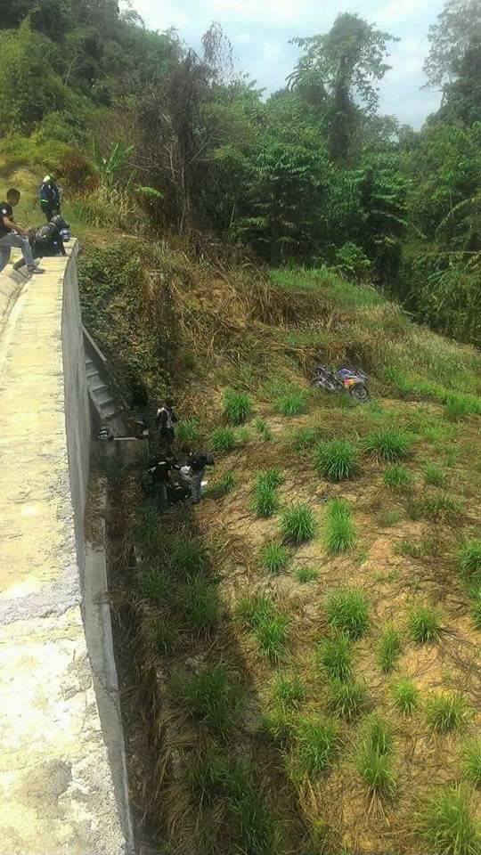 Video&Gambar, Rider Jatuh Gaung Dari Sg Koyan Ke Cameron Highland