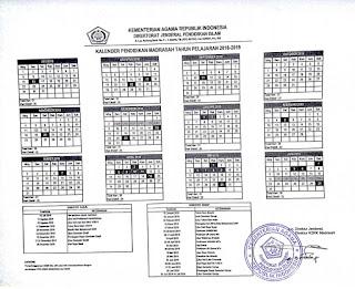 SK Dirjen Pendis tentang Kalender Pendidikan Madrasah Tahun Pelajaran 2018/2019