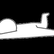 転ぶ人のイラスト(棒人間)