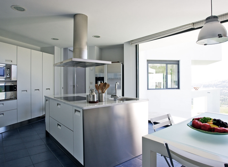 Kitchen of Modern home with the craziest floor plan ever