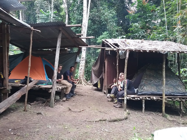 Dutch tourist in basecamp of Susnguakti forest