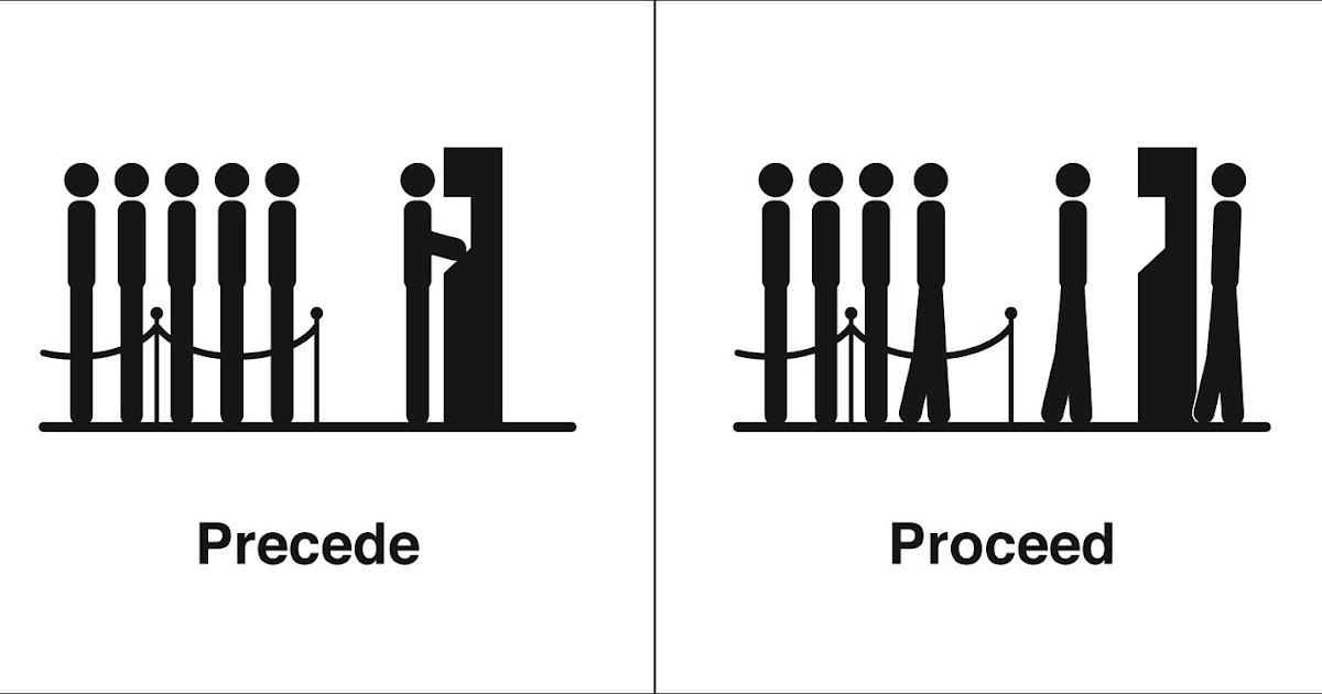 Homophones, Weakly: Precede & Proceed