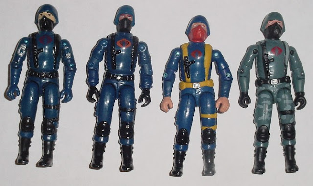 1983 Cobra Trooper, 2004 Comic Pack Trooper, Cobra Infantry, TRU Exclusive, 2005 Night Watch Trooper