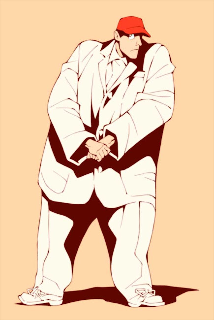 トーキング・ヘッズのライブ映画、ストップメイキングセンスに出てくるビッグスーツを描いた絵