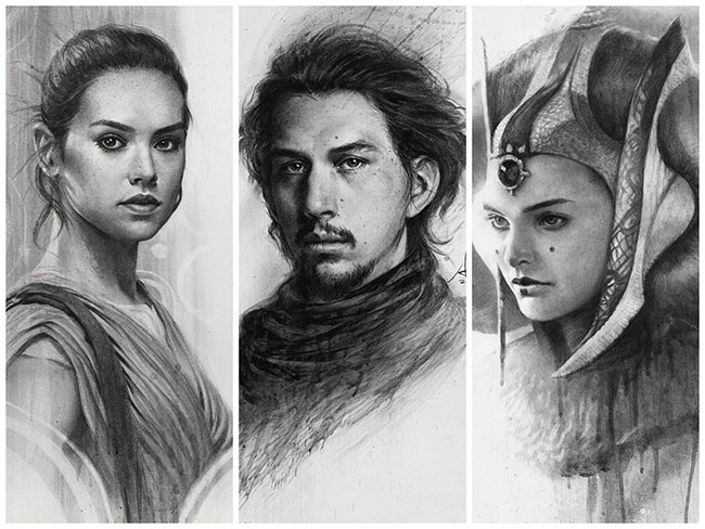 Artgerm aka Stanley Lau - Asian Star Wars Art on YellowMenace.net