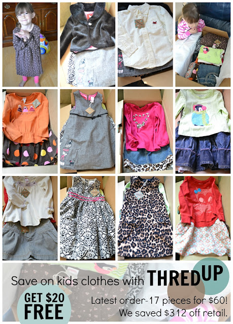 {ThredUP, Saving Money on Kids Clothes & Building a Wardrobe for FREE}