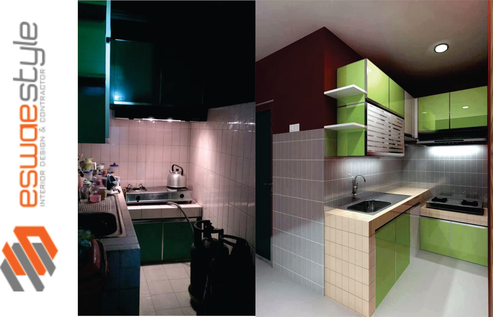 Kitchen Set Metal Acp Eswae Interior